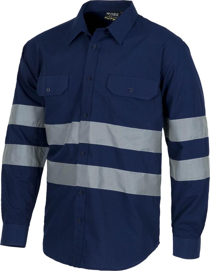 Camisa WORK combi refle b8007