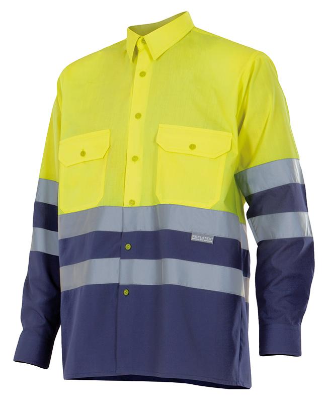 Camisa ML Bicolor A.V. Velilla Serie 144