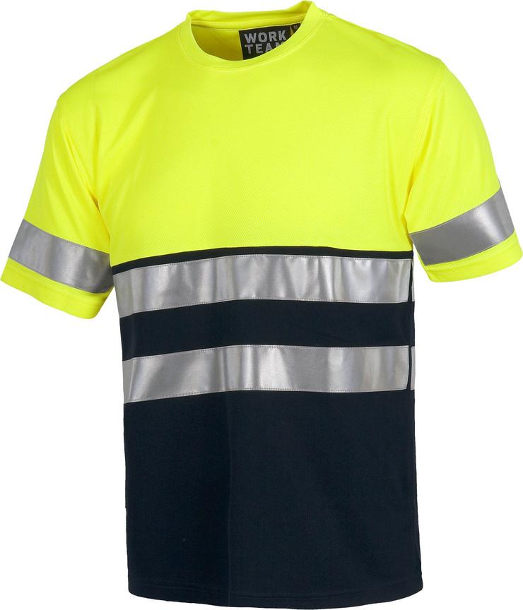 Camiseta WORK combi alta visibilidad c3941