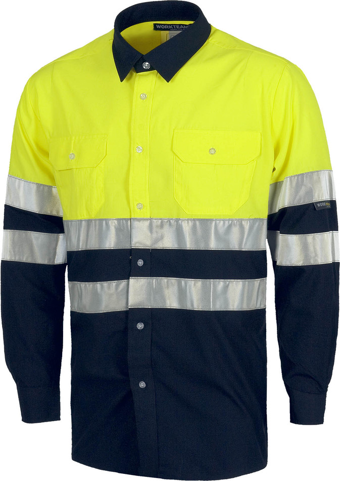 Camisa M/L WORK alta visibilidad c3813