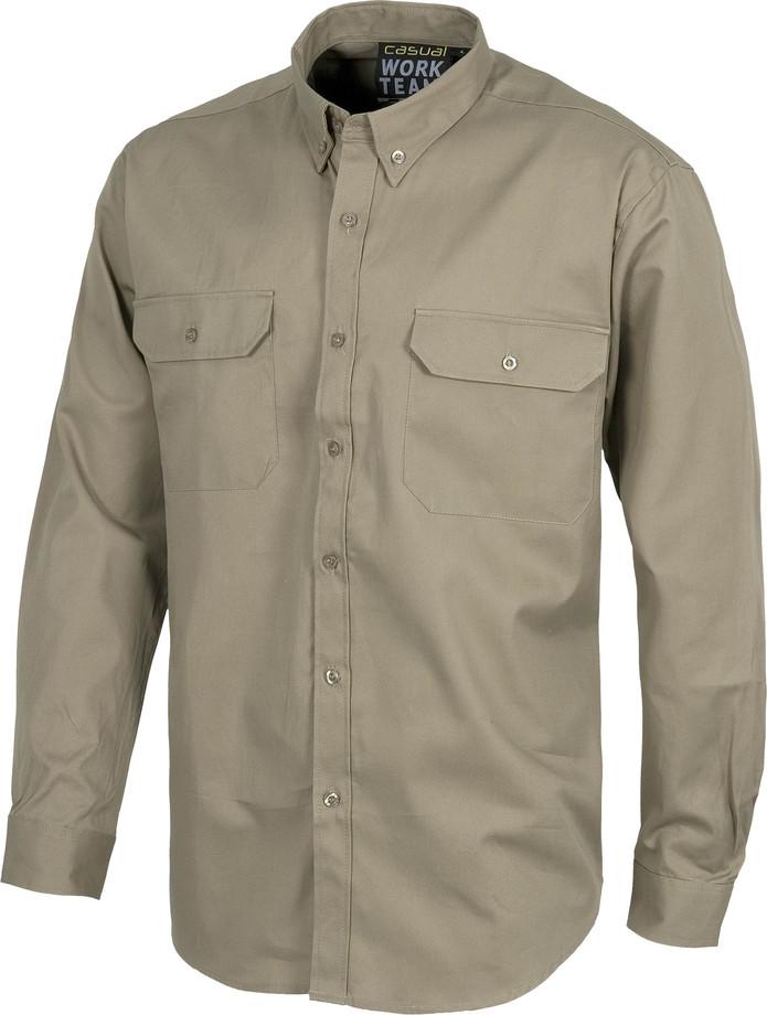 Camisa WORK doble bolsillo b8300
