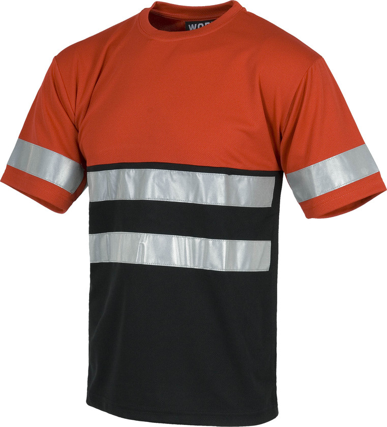 Camiseta WORK red black line c3940