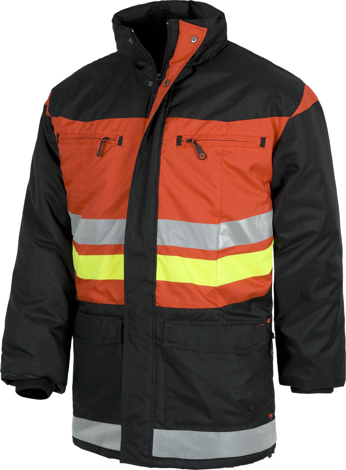 Parka WORK red black line c8107