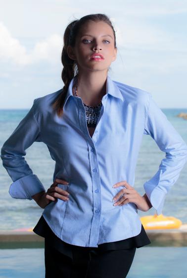 Camisa manga larga JHK mujer